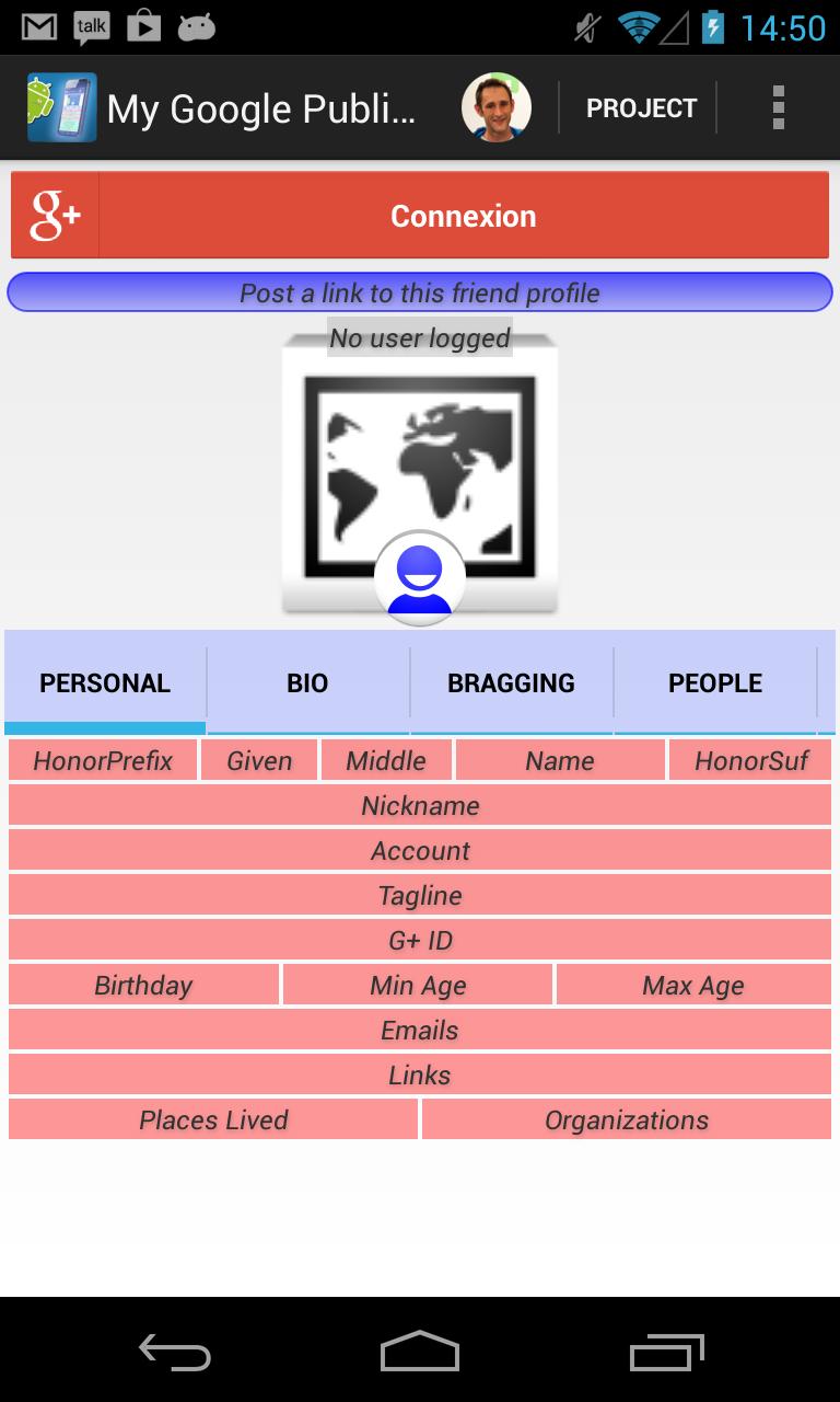 My Google Public Profil