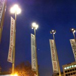 Bannières de l'America's Cup sur Powell Street