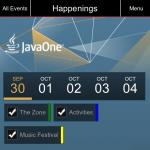 """L'application """"mobile"""" dédiée à la JavaOne 2012"""