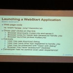 Lancement d'une application Web Start