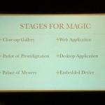 Les différentes scènes da la magie (et des UIs)