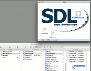 Installation du framework de la SDL2 sur Mac