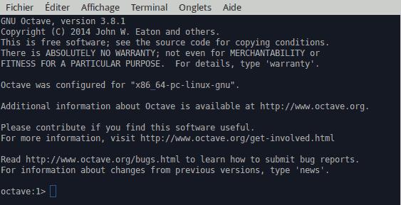GNU Octave console