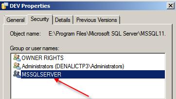 Sql server 2012 nt service sql writer service