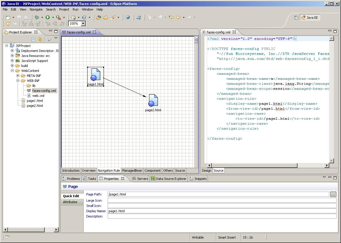 Synchro Page NavigationRule de FacesConfigEditor