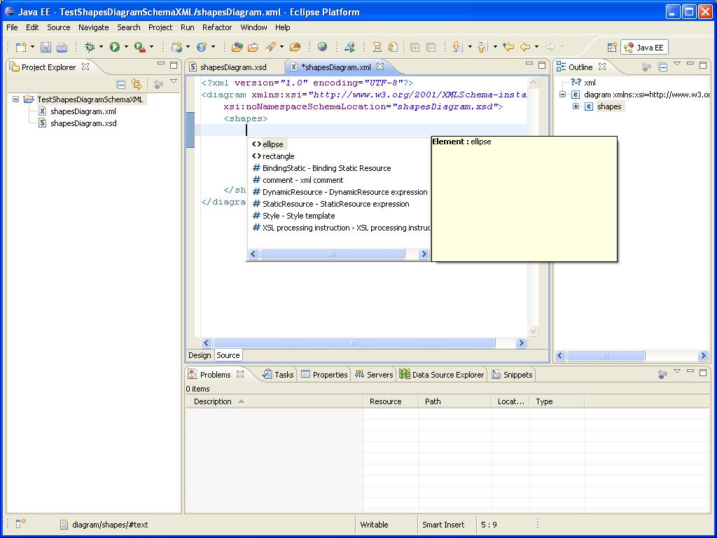 DOM-SSE  - Schema XML - Auto-Complétion