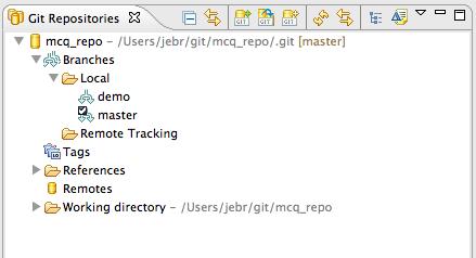 EGit: Git repositories