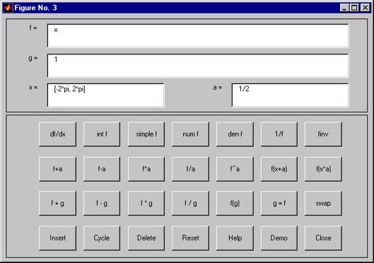 calculatrice graphique matlab