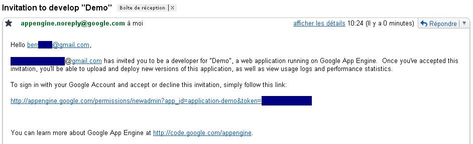 Valider le lien de l'email