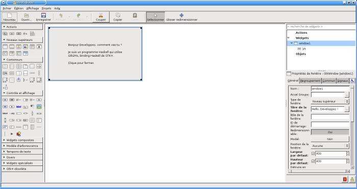 Designer de fenêtres de GTK+