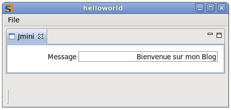 """Fenêtre """"Hello world"""" avec Eclipse Scout"""