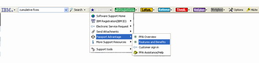 IBM Support Toolbar