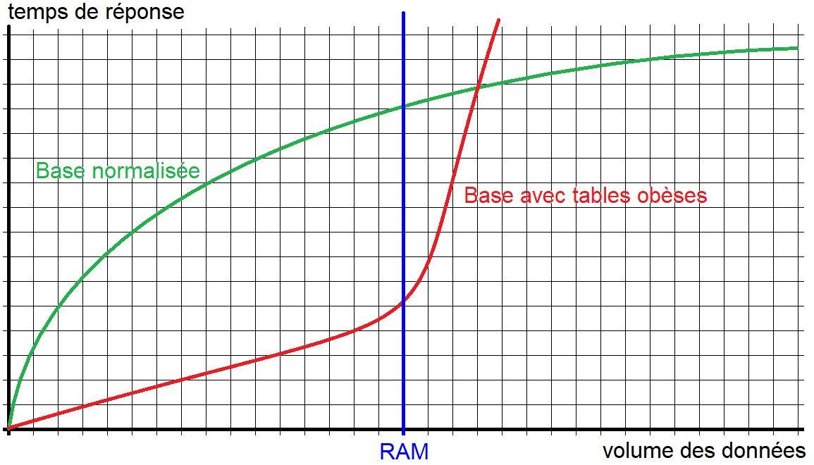 Performance d'une base de données avec table obèse